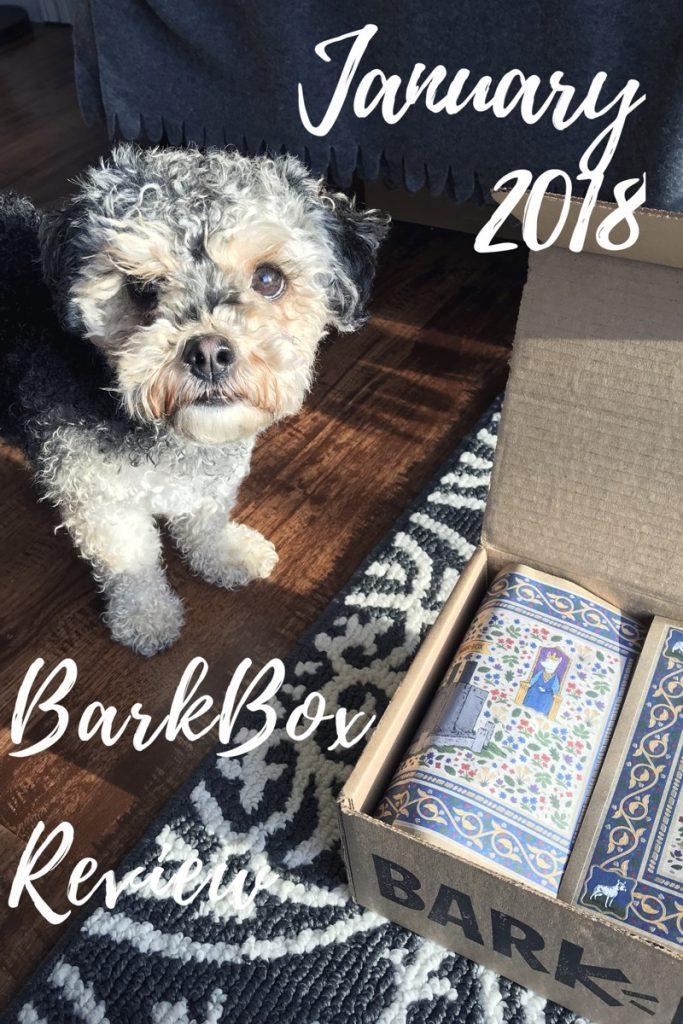 Marlee and her January BarkBox