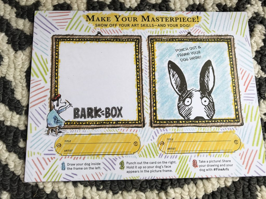 Barkbox Review - March BarkBox 2018 Information Card