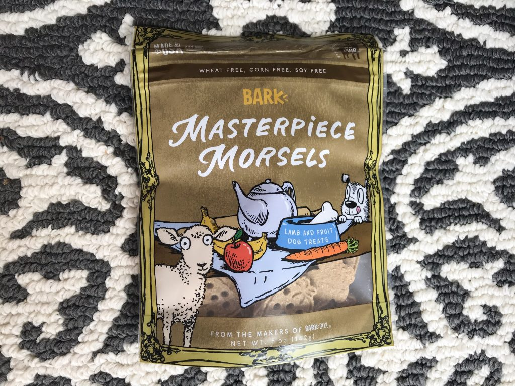 Barkbox Review - March BarkBox 2018 Masterpiece Morsels Treats