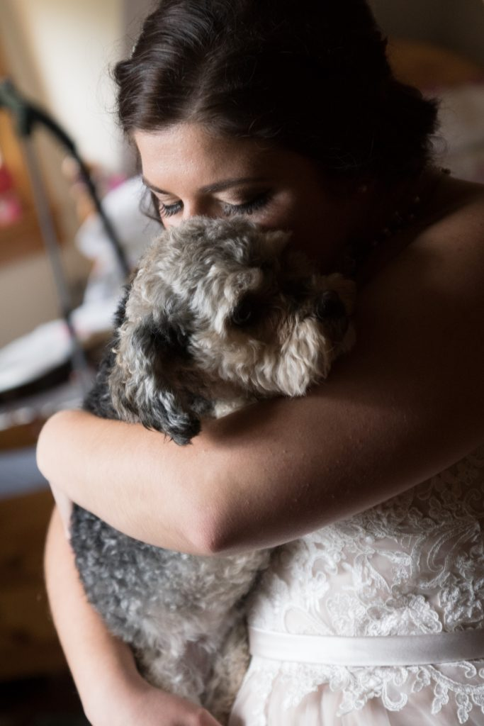 5 Ways to Include Your Dog in Your Wedding Getting Ready and Wedding Pictures
