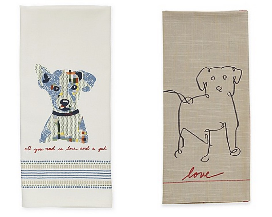 Mother's Day Gift Guide for Dog Mom - ED Ellen DeGeneres Kitchen Towel Dog Print