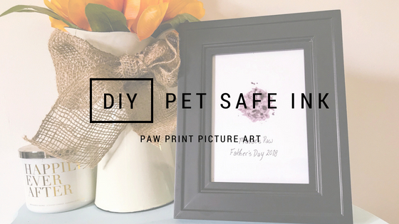 DIY Pet Safe Ink Paw Print Picture