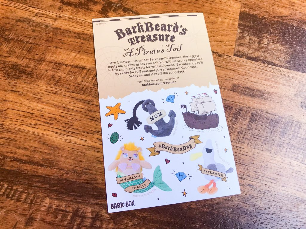 April BarkBox Review - Information Card