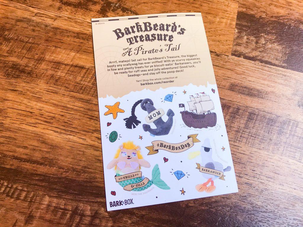 April BarkBox Review - Information Card