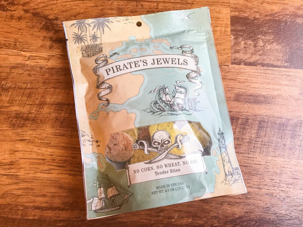 April BarkBox Review - Pirate's Jewels Treats