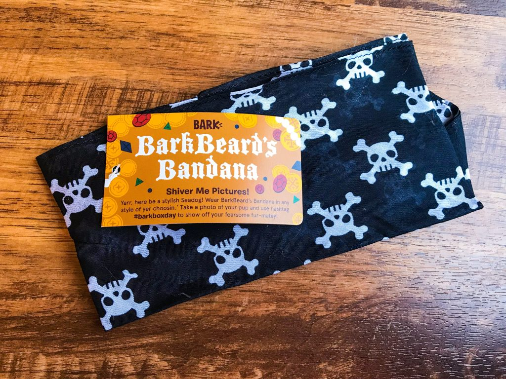 April BarkBox Review - Bonus BarkBeard's Bandana