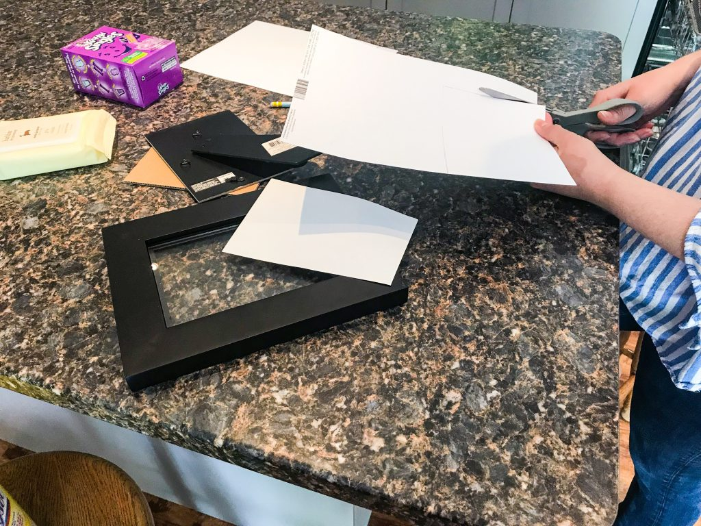 DIY Pet Safe Ink Paw Print Picture - Cutting Cardstock